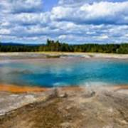 Turquoise Pool, Yellowstone Poster