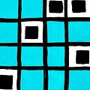 Turquoise Squares Poster by Marsha Heiken