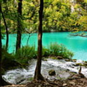 Turquoise Waters Of Milanovac Lake Poster