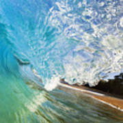Turquoise Wave Tube Poster