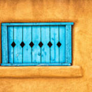 Turquoise Window Shutter Poster