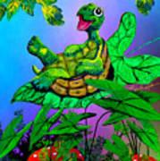 Turtle Trampoline Poster
