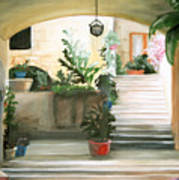 Tuscan Courtyard Detail Poster