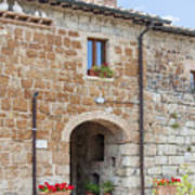 Tuscan Old Stone Building Poster