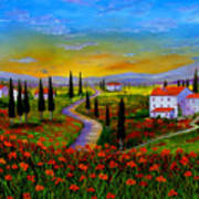 Tuscany Sunset Poster