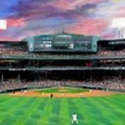 Twilight At Fenway Park Poster by Jack Skinner