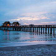 Twilight At The Pier Poster