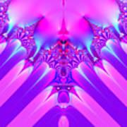 Twilight Descending Fractal Poster
