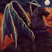 Twilight Storm Dragon Poster