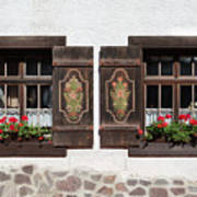 Twin Decorated Windows Poster
