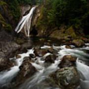Twin Falls Landscape Poster