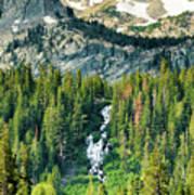 Twin Lakes Waterfall Poster