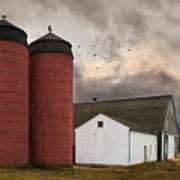 Twin Silos Poster