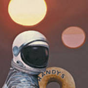 Twin Suns and Donuts Poster