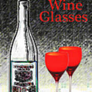 Twink Wine Glasses Poster