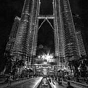 Twintowers At Night Poster