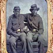 Two African American Soldiers Wearing Poster by Everett