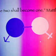 Two Become One Poster by Raul Diaz