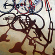 Two Bicycles Poster by Linda Apple