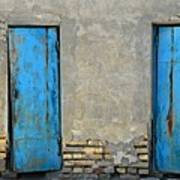 Two Blue Doors   Bukhara Poster