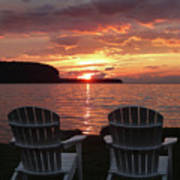 Two Chair Sunset Poster