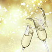 Toast Champagne Glasses Poster