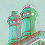Two Chimney Pots. Poster
