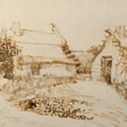 Two Cottages At Saintes Maries De La Mer Poster
