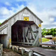 Two Covered Bridges Of St. Martins Poster