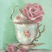 Two Cup Rose Painting Poster