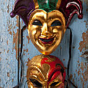 Two Decortive Masks Poster by Garry Gay