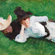 Two Girls On A Lawn Poster