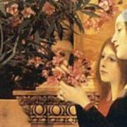 Two Girls With An Oleander Poster