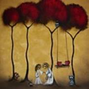 Two Hearts Poster by Charlene Zatloukal