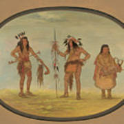 Two Ojibbeway Warriors And A Woman Poster