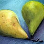 Two Pears Still Life Poster