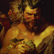 Two Satyrs Poster by Peter Paul Rubens
