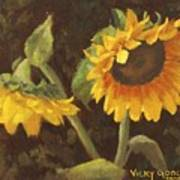 Two Sunflowers Poster
