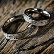 Two Wedding Rings With Celtic Design Poster