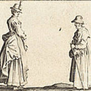 Two Women In Profile Poster