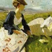 Two Women On The Hillside 1906 Poster