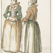 Two Women Standing Poster