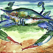 Tybee Blue Crab Poster