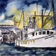 Tybee Island Georgia Boat Poster