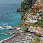 Tyrrhenian Sea Amalfi Coast Poster