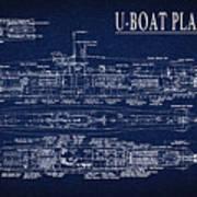U-boat Submarine Plan Poster