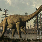 Uberabatitan Dinosaur Walking Poster