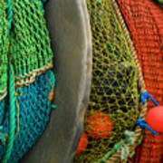 Ucluelet Fishing Nets Poster