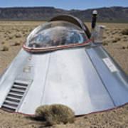 Ufo Landing Poster