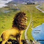Uganda Railway - British East Africa - Retro Travel Poster - Vintage Poster Poster